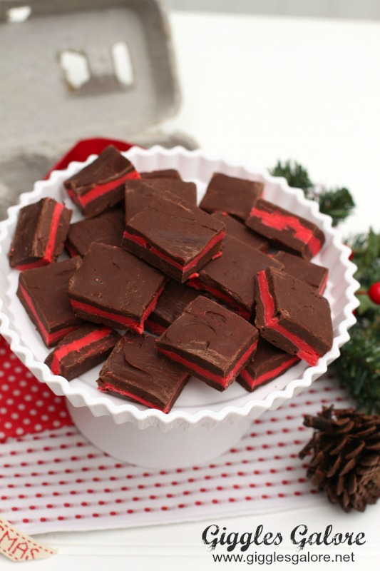 Red Peppermint Fudge Giggles Galore