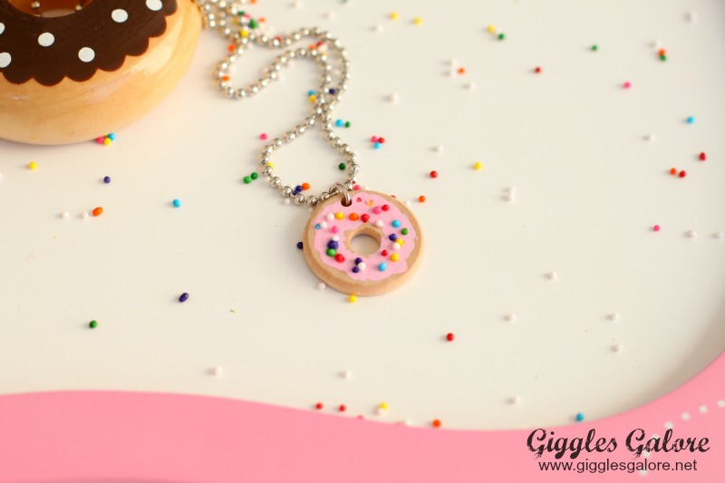 DIY Donut Necklace Tutorial