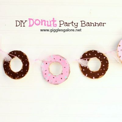 DIY Donut Party Banner