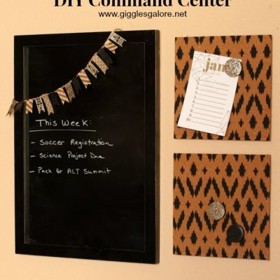 DIY Command Center + 10 Creative Ideas to Clean, Organize & Plan