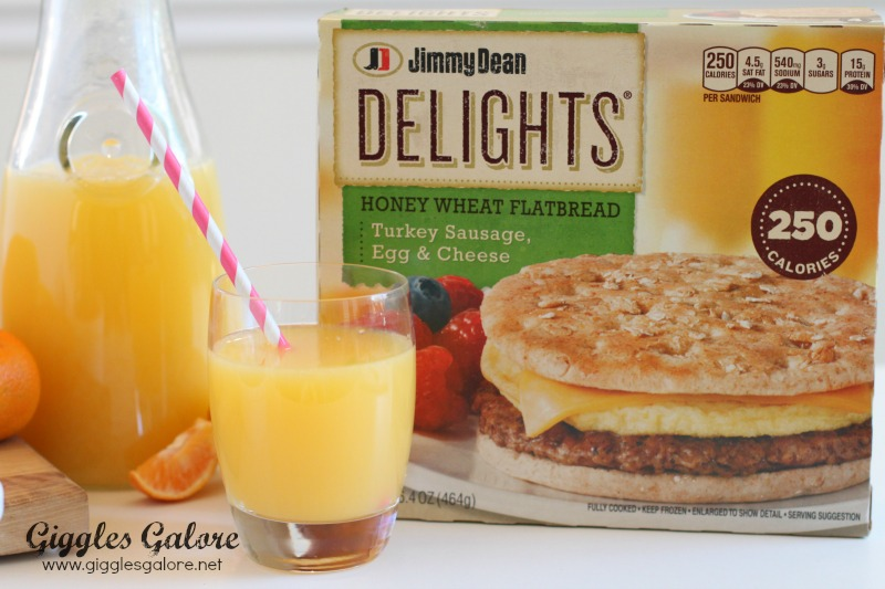 Jimmy Dean Delights and Fresh Squeezed OJ