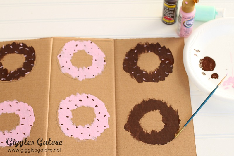 Painting DIY Donut Party Banner