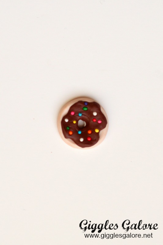 Polymer Clay Donut Ring with Sprinkles