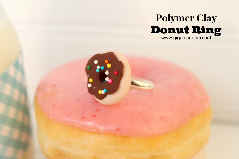 Polymer Clay Donut Ring_Giggles Galore