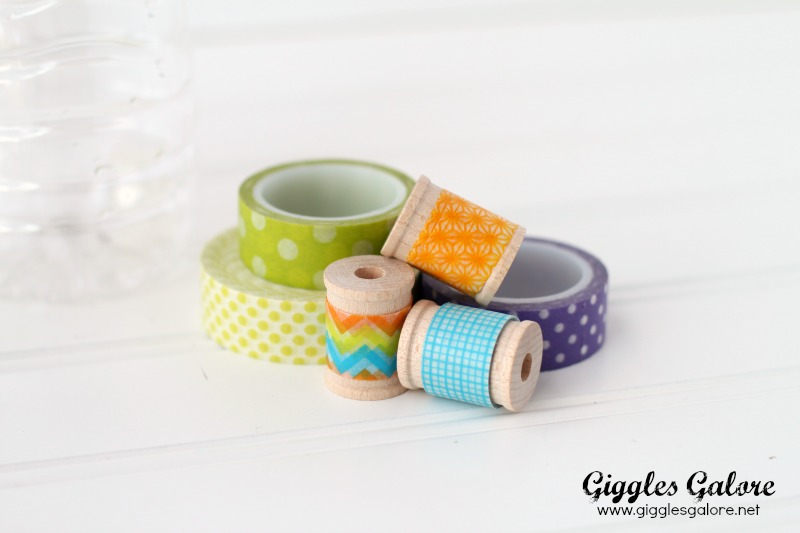 Recycled Water Bottle Planter Washi Tape