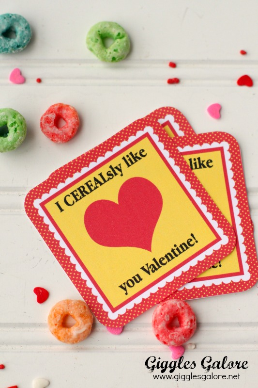 CEREALsly Like You Valentine Tags