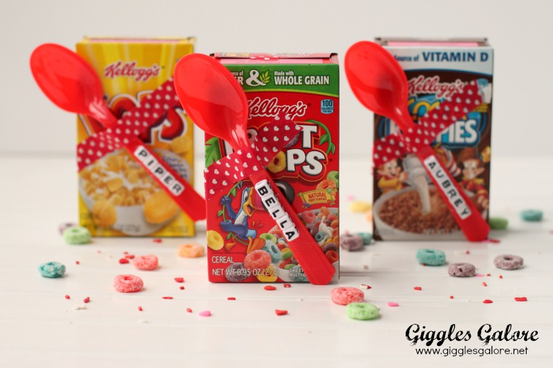 DIY Mini Cereal Box Valentines