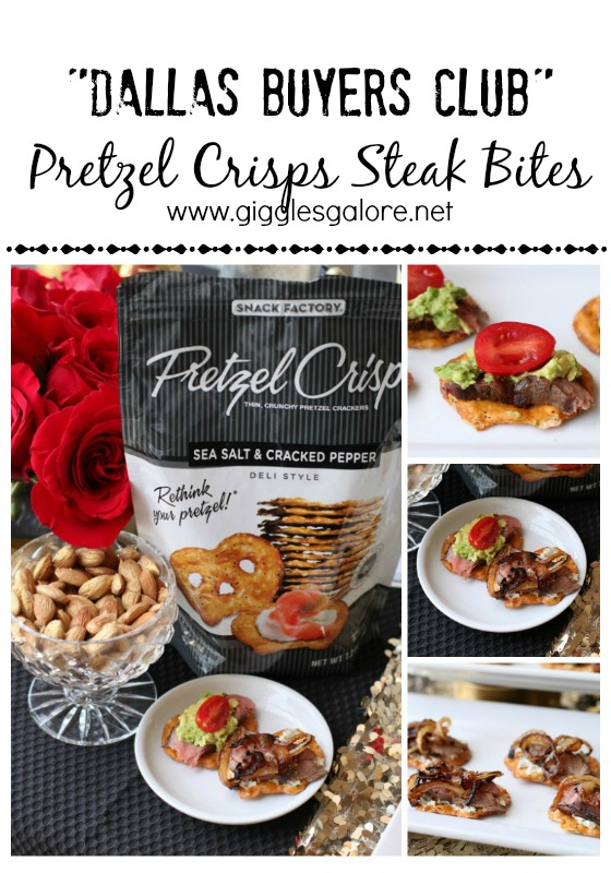 Dallas Buyers Club Pretzel Crisps Steak Bites Giggles Galore