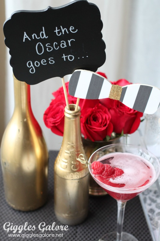 Glam Oscar Party Ideas on oscar party centerpiece ideas