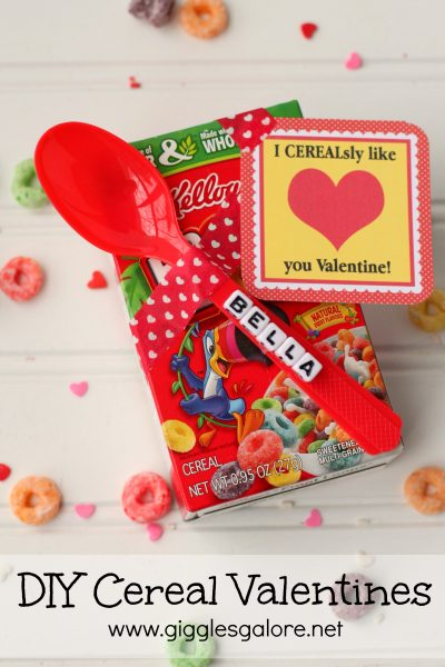 Personalized diy cereal valentines giggles galore
