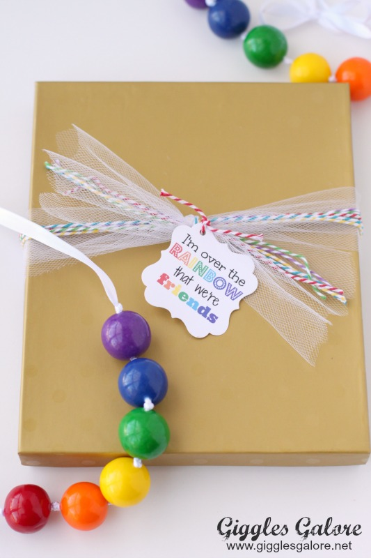Rainbow Gumball Necklace Favor