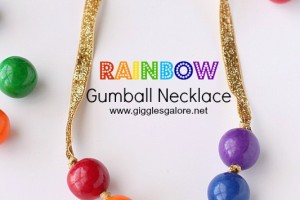 Rainbow Gumball Necklace Tutorial
