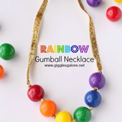 Rainbow Gumball Necklace