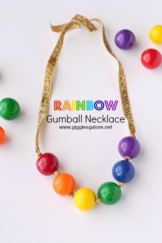 Rainbow Gumball Necklace Tutorial