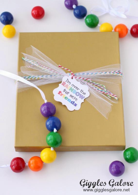 St Patricks Day Rainbow Gumball Necklace