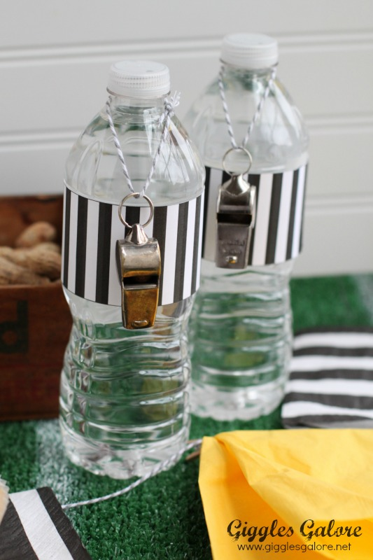 Super Bowl Whistle Water Bottles