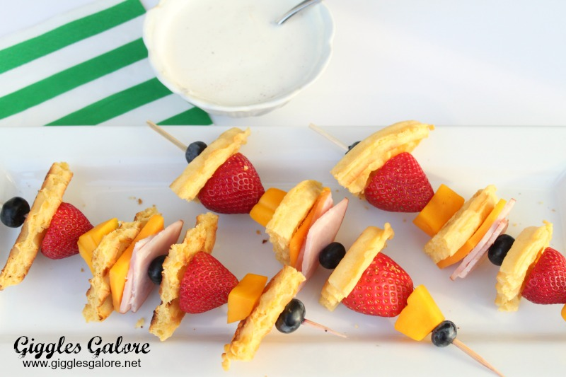 Breakfast Kabobs with Yogurt Dip