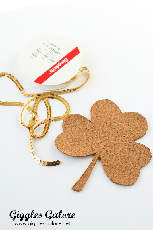 DIY Shamrock Coaster Supplies