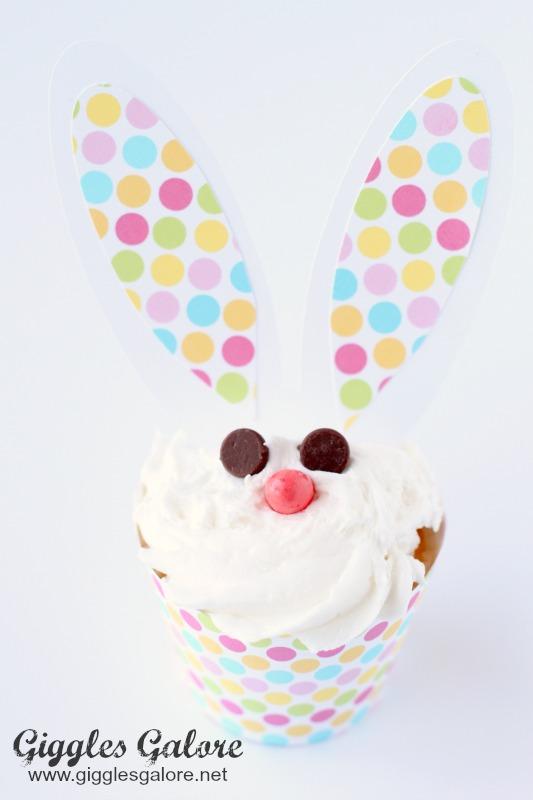 Easter Bunny Cupcake Face