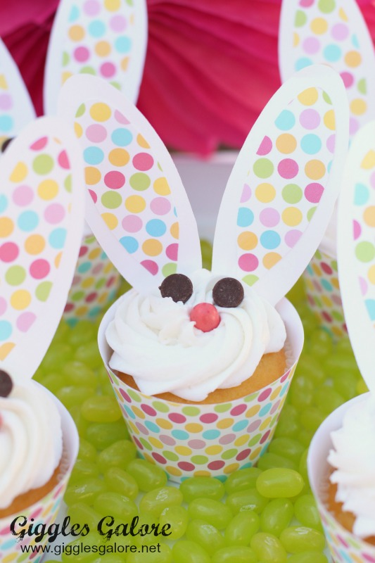 Easter Bunny Cupcakes_GigglesGalore