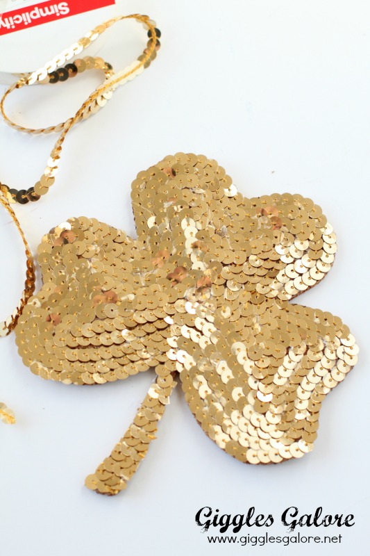 Gold DIY Shamrock Coaster