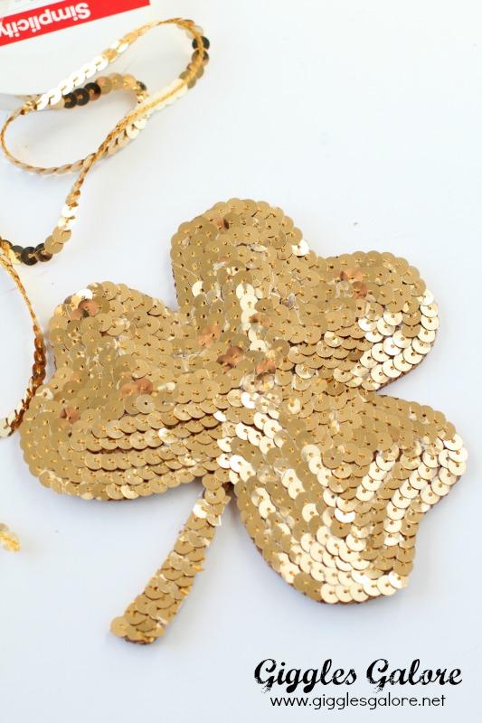 Gold DIY Shamrock Coaster