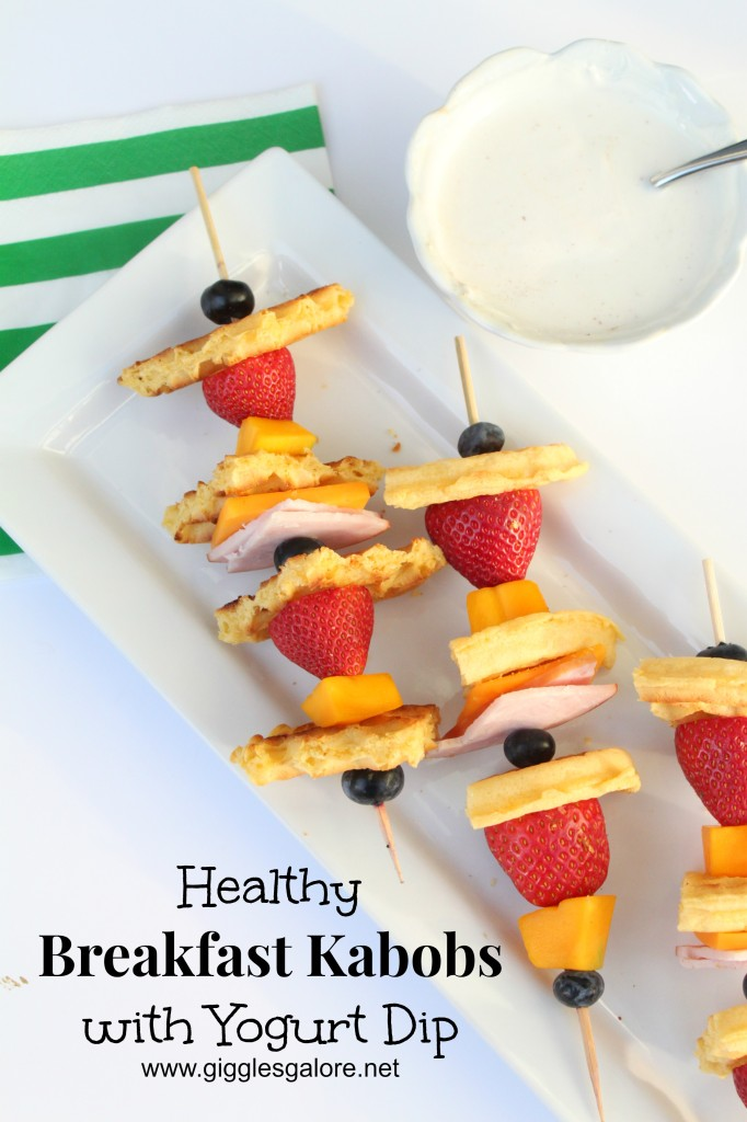 Healthy Breakfast Kabobs with Yogurt Dip