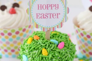 Easter Grass Cupcakes
