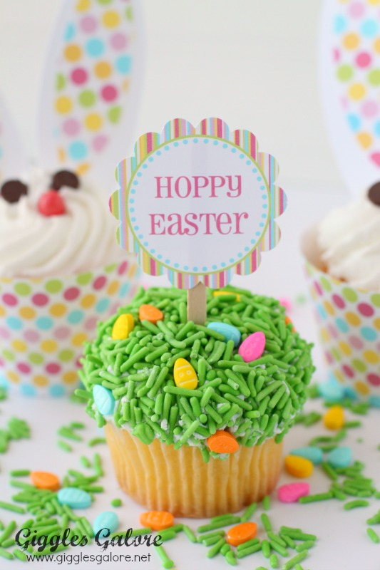 Hoppy Easter Cupcakes