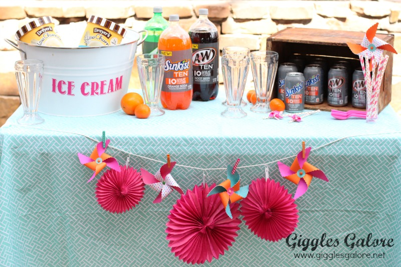 Ice Cream Float Party Set-up