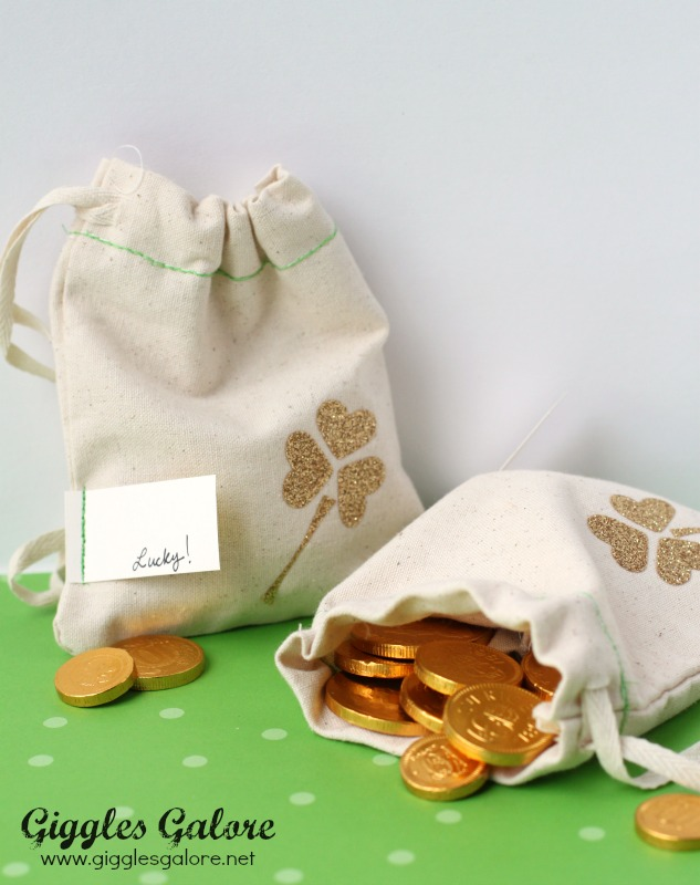 Lucky St Patricks Day Favor Bags