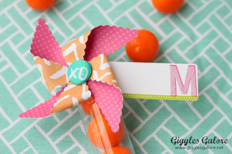 Pinwheel Favor Tag