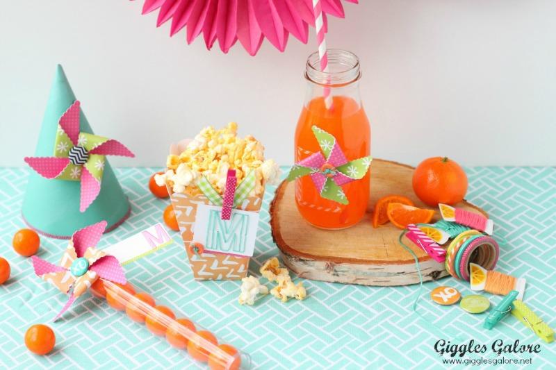 Spring Pinwheel Party Favors