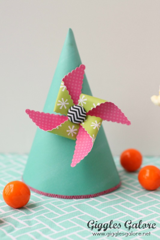 Spring Pinwheel Party Hat