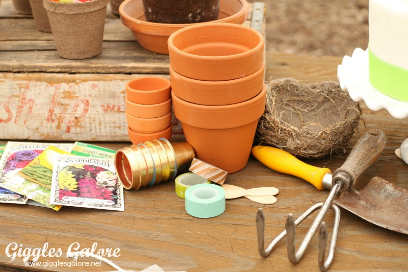 Spring Planting Party Clay Pots_Giggles Galore