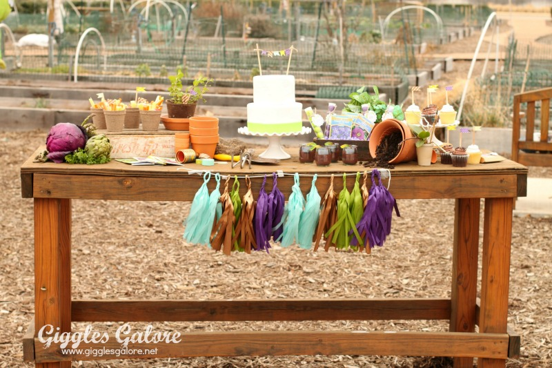 Spring Planting Party Dessert Table_Giggles Galore
