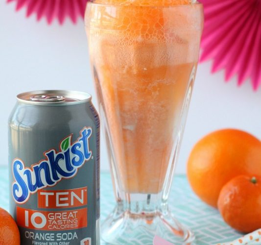 Sunkist ten orange creamsicle float giggles galore