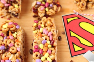 Superhero cheerio breakfast bars giggles galore