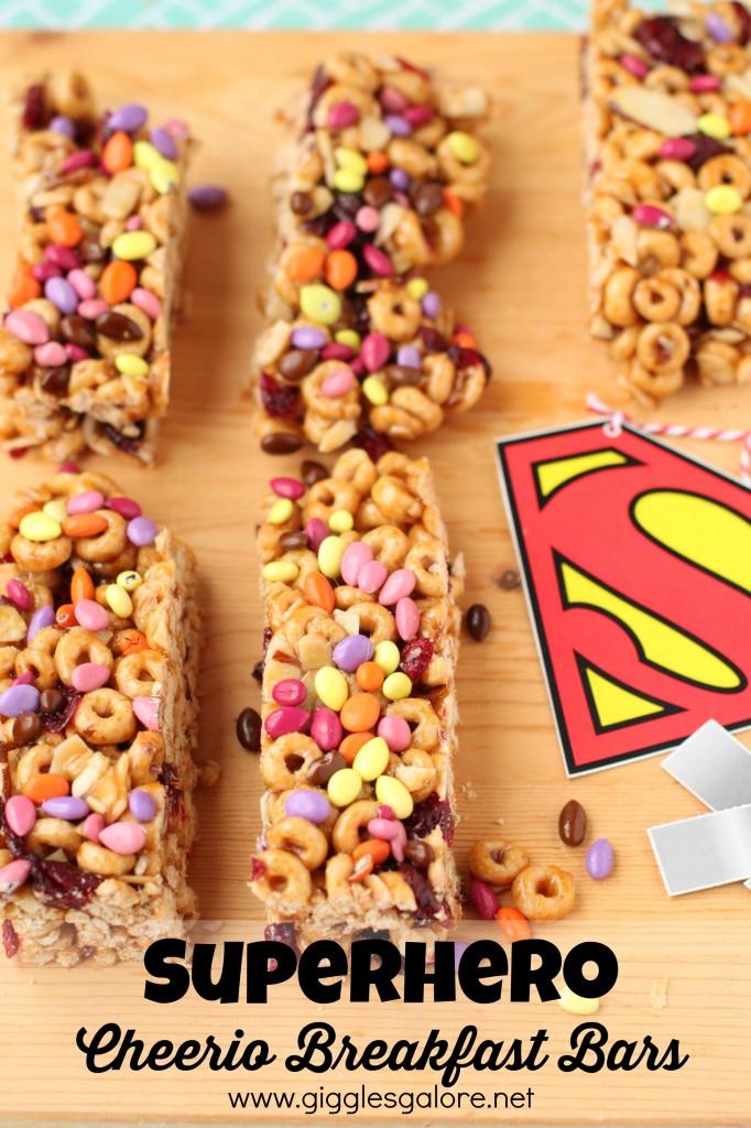 Superhero Cheerio Breakfast Bars_Giggles Galore
