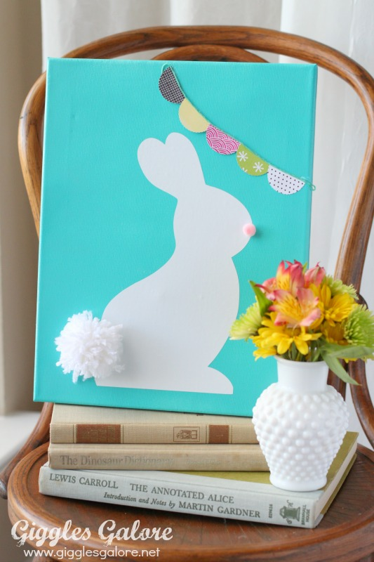 Bright Easter Bunny Canvas
