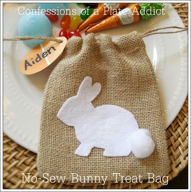 CONFESSIONS OF A PLATE ADDICT No-Sew Burlap Bunny Treat Bag6