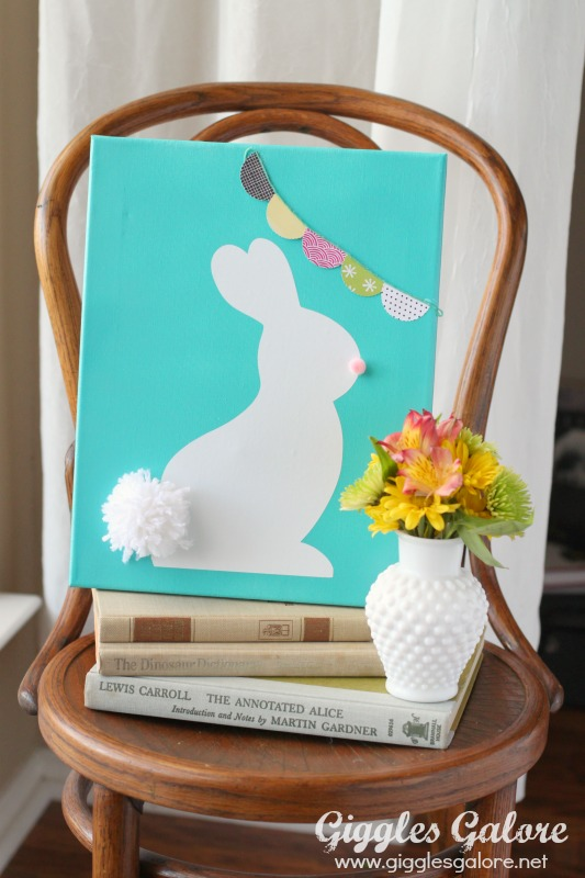 Easter Bunny Canvas by Mariah Leeson