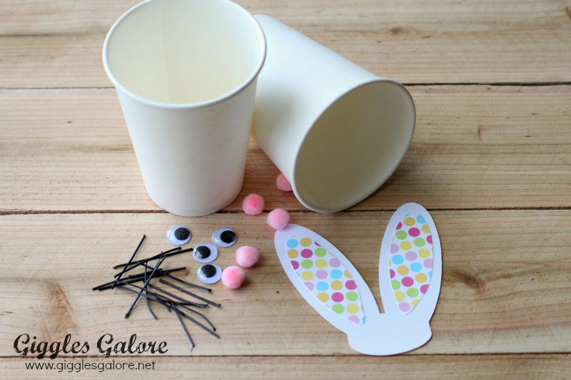 Easter Bunny Cup Supplies
