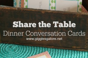 Share the Table Dinner Conversation Cards