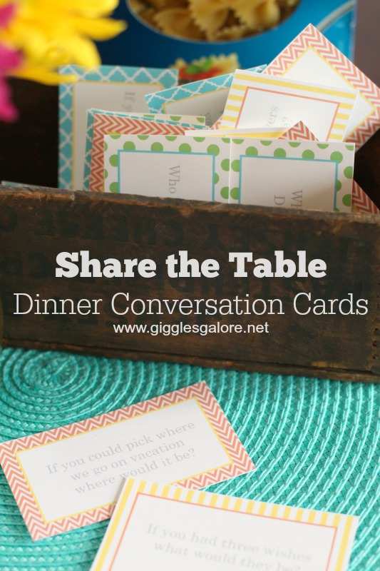 Share the Table Dinner Conversation Cards_Giggles Galore