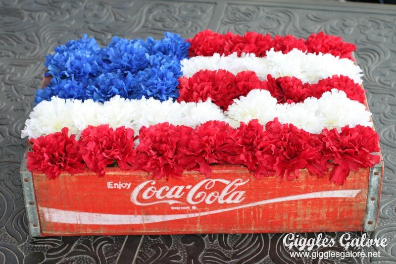 Coke Crate American Flag