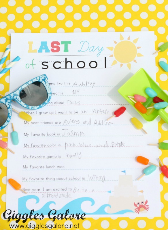 Last Day of School Interview_Free Printable