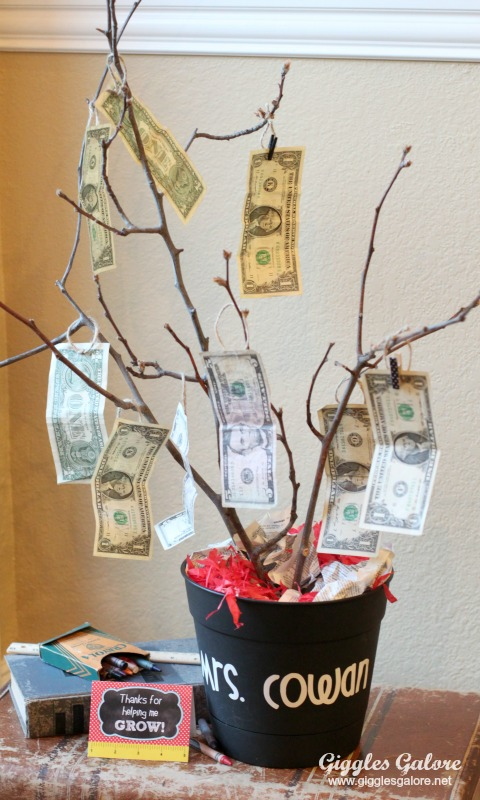 Teacher Appreciation Money Tree Gift