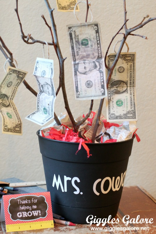 Teacher Appreciation Money Tree in Flower Pot