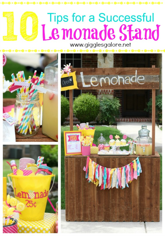 10 Tips for a Successful Lemonade Stand Giggles Galore